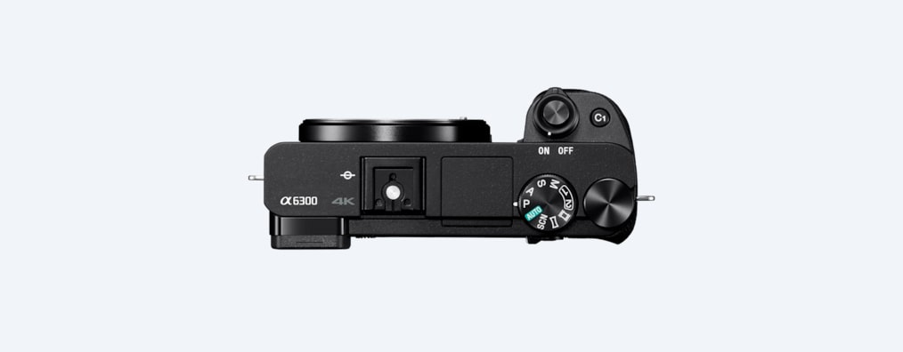 Afbeeldingen van α6300-camera met E-bevestiging en APS-C-sensor