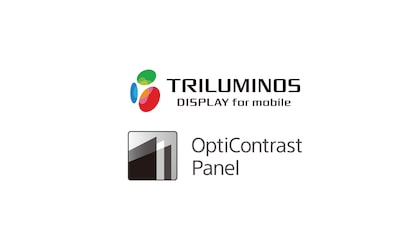 Logo Triluminos-display en OptiContrast-paneel