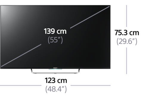 tv led 3d full hd avec nfc 164 cm 189 cm 65 75 w85 sony be. Black Bedroom Furniture Sets. Home Design Ideas