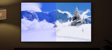 Image d'un écran illustrant les avantages du capteur de lumière et de couleurs