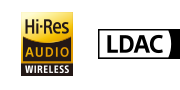 Hi-Res Audio Wireless-logo en LDAC-logo